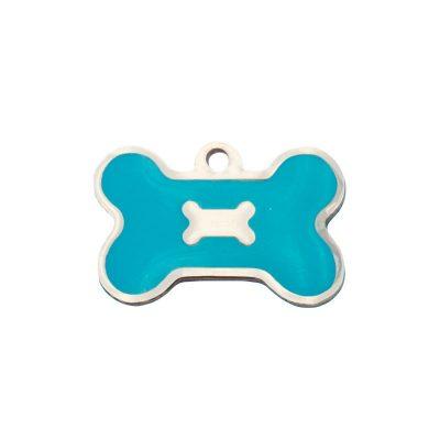 Identifica a tu perro con este hueso celeste.