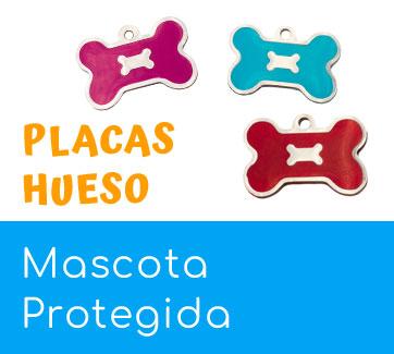 placas-identificativas para perros y gatos con forma de hueso